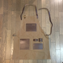 Men's leather working apron-long001