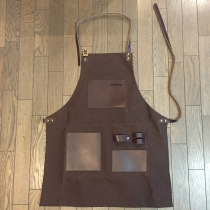 Men's leather working apron-long002