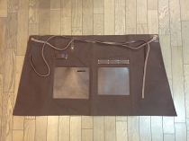 Men's leather working apron-short002